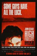High Fidelity Movie Poster 27x40 Uk John Cusack Todd Louiso Jack Black Iben