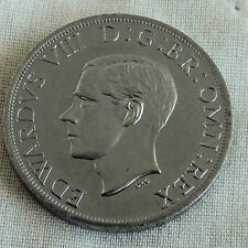 EDWARD VIII 1937 NEW ZEALAND PLATINUM COLOURED PROOF PATTERN FLORIN mintage 18