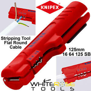 Knipex Stripping Tool Flat Round Cable Data Cable Dismantling Tool 16 64 125 SB