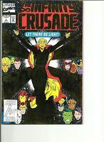INFINITY CRUSADE #1(VF+) 1993 MARVEL COMICS-GOLD FOIL COVER
