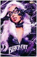 BLACK CAT #1 Mike Mayhew Studio Variant Cover A & B Set Signed with COAs