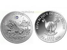 1000 Francs Einhorn Unicorn Opal Kamerun Silber Silver 2012