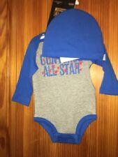 Converse Boys Top Long Sleeved Hat Set New  Age 3-6 Months