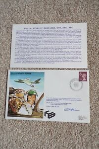 GB FDC SQN LDR NEVILLE F. DUKE HAND SIGNED FIRST DAY COVER 1982
