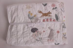 New Pottery Barn Kids Ramona toddler quilt crib nursery, embroidered animals
