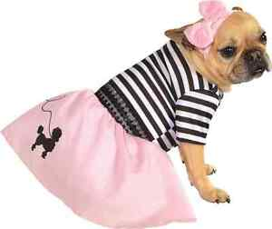 Fifties Girl 50's Sock Hop Poodle Skirt Dress Up Halloween Pet Dog Cat Costume