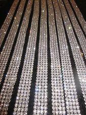 4 Row 1 Yard Crystal Cake Banding Trim Ribbon Rhinestone Wedding Super Sparkly!!