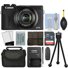 Canon PowerShot G7X Mark III 20.2MP 4K Digital Camera 4.2x Zoom Black + 16GB Kit