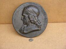 DAVID D'ANGERS plaque en bronze représentant le poète Corneille ( 1606-1684 )