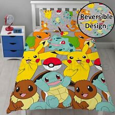 POKEMON CATCH SINGLE DUVET COVER SET BEDDING BOYS GIRLS