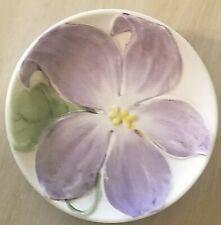Mini Doll Porcelain Numbered Plate Japan Jasmine Purple Flower Design Vintage