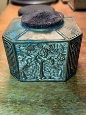 Antique Tiffany Studios Ny Bronze Bookmark Pattern Brush Pen Wipe Tree Of Life