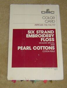 Lot #1115 DMC Color Card No. W-200A 1987-1 Embroidery Floss & Pearl Cottons