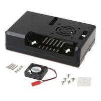 Kunststoff Hülle Gehäuse Box+Kühlerlüfter+RPI CPU Kühler für Raspberry Pi 2/3