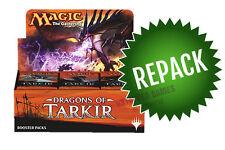 Dragons of Tarkir DTK Booster Box Repack! 36 Opened MTG Packs In Box