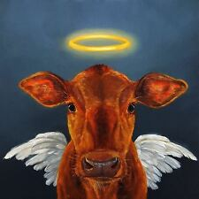 HOLY COW PRINT LUCIA HEFFERNAN funny joke animal humor novelty 16X16 poster