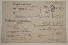 LETTRE PRISONNIER DE GUERRE STALAG X B ALLEMAND 1942 CAMP / BAS LIEU