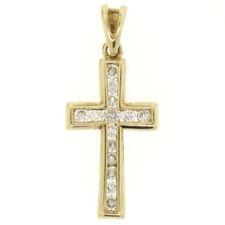 Collares y colgantes de joyería con diamantes en oro amarillo de 24 quilates diamante