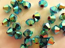 24 Jet AB2X Swarovski Crystal Beads Bicone 5328 4mm