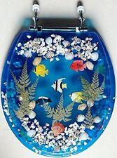 Transparent Fish Aquarium Standard Size Toilet Seat with Cover Acrylic Seats