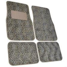 Cheetah Print Car Floor Mats for Sedan SUV 4 Piece Carpet Liner Vinyl Heel Pad