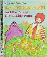 VINTAGE 1980s Little Golden Book McDonalds RONALD McDONALD Talking Plant
