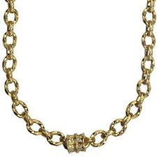 KIRKS FOLLY SOUTH SEA MAGNETIC ENHANCER CHAIN NECKLACE GOLDTONE
