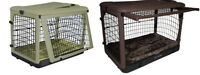"Pet Gear Steel Dog Crates ""The Other Door"" w / Bolster Pad & Storage Bag S M L"