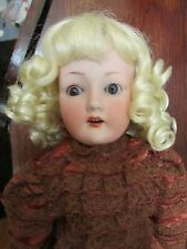 SIZE 8  SARA WIG  MOHAIR SYNTHETIC  LIGHT BLONDE   MODERN ANTIQUE DOLL