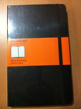 MOLESKINE BLACK HARD COVER LARGE RULED JOURNAL  (5 X 8.25)