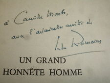 UN GRAND HONNÊTE HOMME Jules Romains, rare envoi autographe !