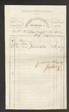"""LIMOGES (87) EAUX-DE-VIE RHUM Dépot FROMAGE CANTAL """"IMBERT & LABOISSEILLE"""" 1862"""