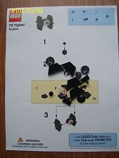 BRAND NEW TOYSRUS LEGO TIE FIGHTER 12 PIECES COMPLETE SET WITH INSTRUCTION