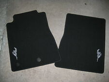 2011 2012 FORD MUSTANG RUNNING PONY LOGO CARPETED FLOOR MATS 2 PIECE SET