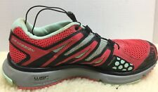 Salomon XR Mission Mens Sz 10 Trail Running Athletic #3774776 Red Gray Blk Grn