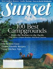 Sunset Magazine May 1997 Cordless Mowers, Easy to Build Birdhouses, Camp Recipes