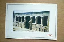 Postcard- ESNA EGYPT- THE TEMPLE OF ESNA (16.5x11.5 cm)