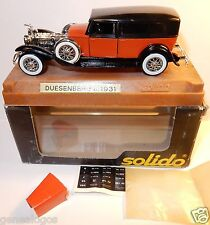 AGE D'OR SOLIDO OLD DUESENBERG J LIMOUSINE 1931 ROUGE 1/43 IN BOX b