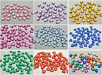 200 Flatback Acrylic Faceted Heart Rhinestone Gem 10X10mm NoHole Pick Your Color