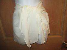 NEW BODY GLOVE OSFA BIKINI SWIMSUIT Cover UP Skirt Ivory Sarong Pareo  S M L XL