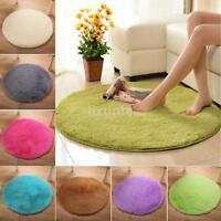 Home Decor Soft Bath Bedroom Floor Shower Yoga Plush Round Mat Rug Non-slip 1pc
