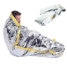 Mylar Foil Waterproof Blanket Survival Emergency Sleeping Bag Camping Outdoor