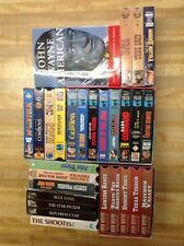 Lot Of 27 John Wayne VHS Movies & John Wayne American book