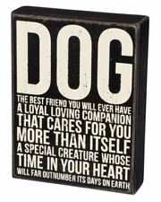 "Dog Best Friend You Will Ever Have Box Sign Primitives Kathy 6"" x 8"""