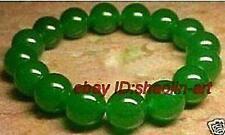 10mm verte de jade bracelet , extensible, 19cm