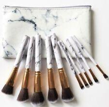 Marble New Kabuki Make up Brush Set Brushes Blusher Face Powder With Bag UK