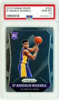 2015 Panini Prizm #322 D'ANGELO RUSSELL Rookie Card RC Perfect PSA 10 GEM MINT