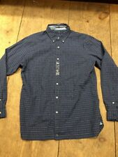 Ralph Lauren Men's XXL Blue Check Slim Fit Button-Down Shirt Pony LS NWT