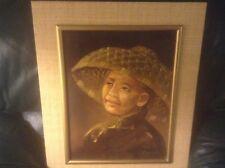 Tom Wong Korean Woman Oil Painting