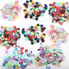 5000x Assorted Glitter Sequins Heart Star Flower Sticker Nail Care Tips Manicure